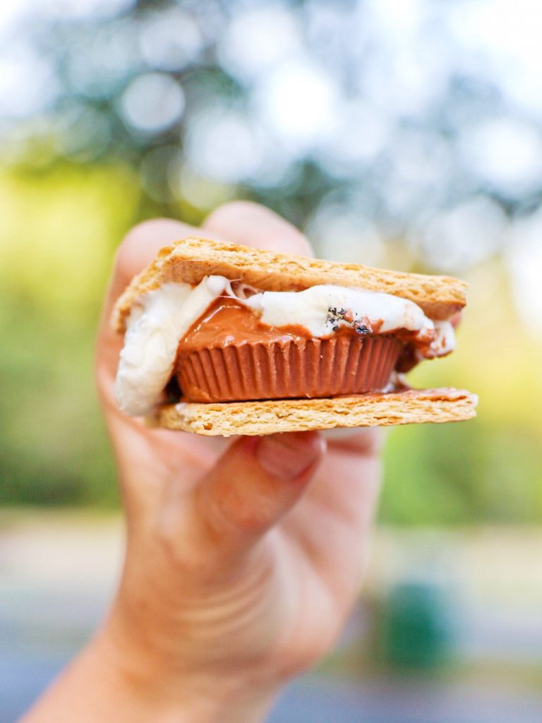Creative s'more idea: Reese's cup s'mores