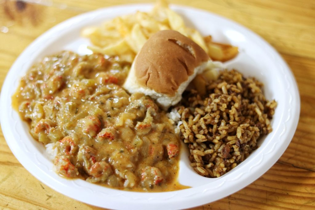 Austin to New Orleans road trip stop: Poche's in Breaux Bridge, LA for crawfish etouffee