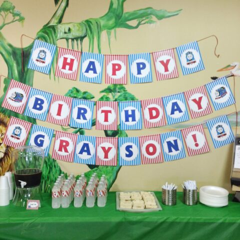 Thomas and Friends Birthday Party Banner