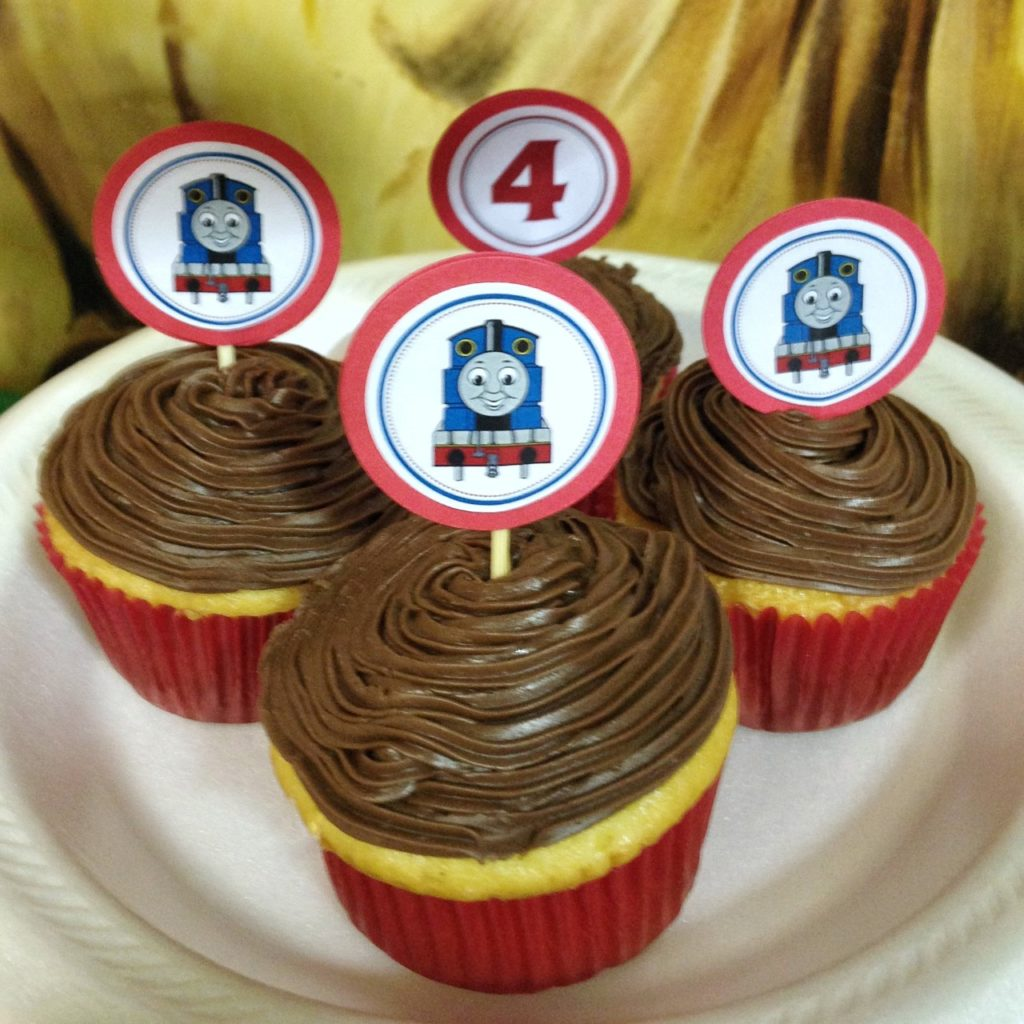 Thomas the Train Party DIY Cupcake Topper