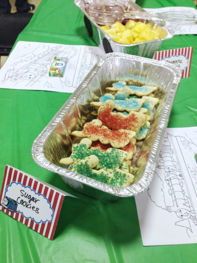 Thomas the Train Themed Party Dessert Idea - Train Cookies