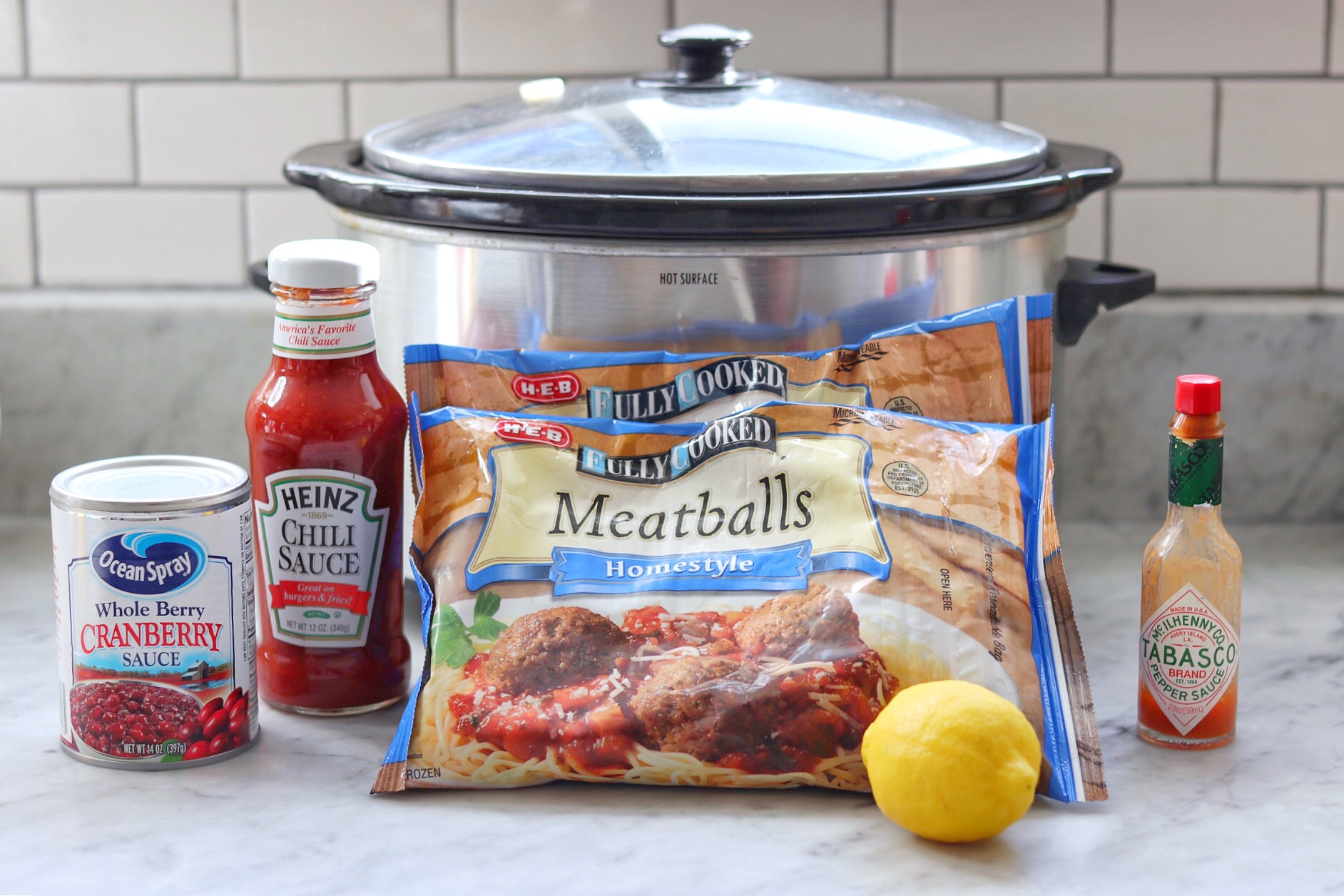 how to make chili and cranberry sauce meatballs in the crock pot or slow cooker
