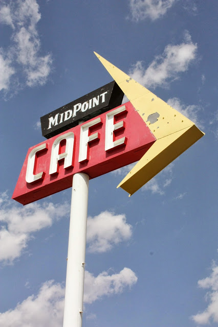 Route 66 road trip itinerary - Midpoint Cafe in Adrian, TX