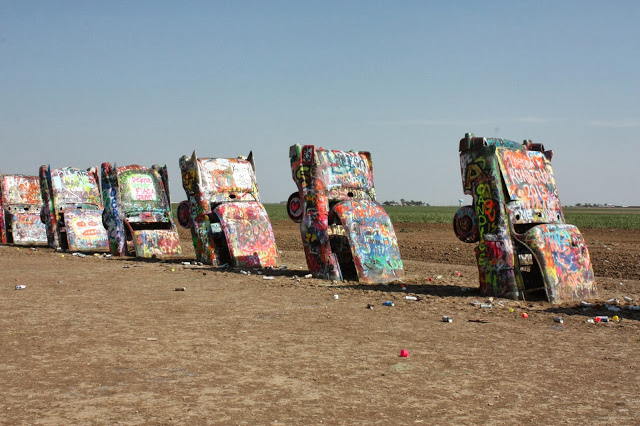 things to see on route 66 - cadillac ranch in amarillo, tx. a fun thing to see on route 66