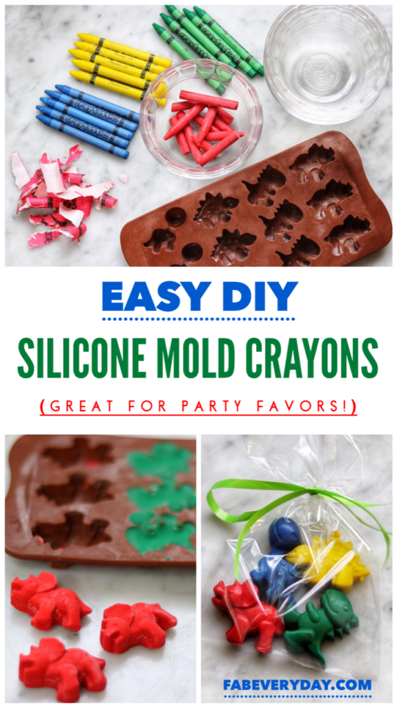 Easy DIY party favors: Fun Shape Crayons from Silicone Molds