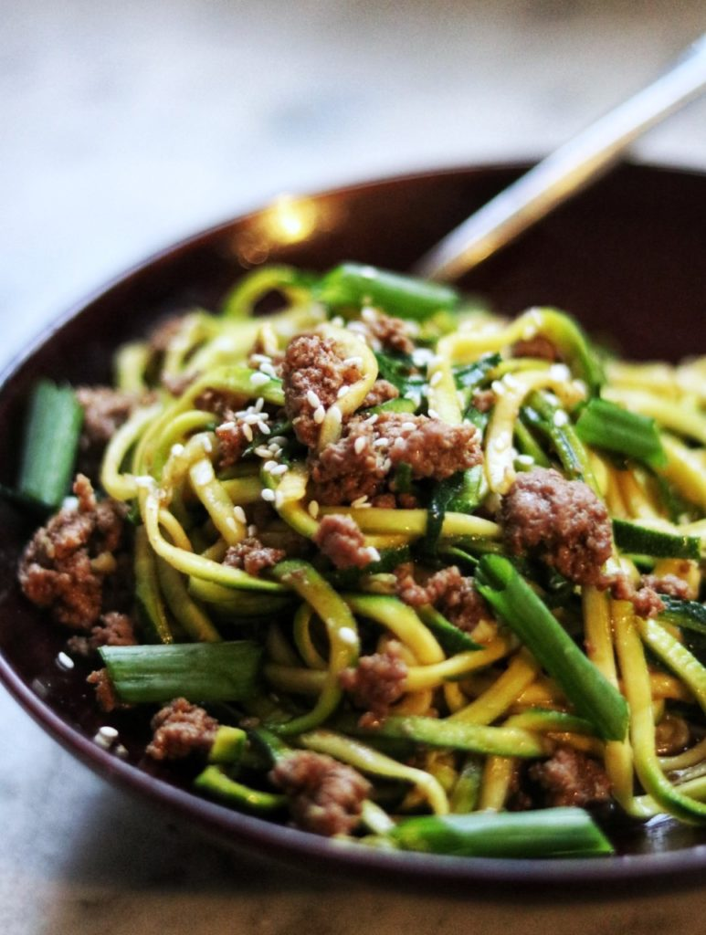 What to do with lots of zucchini - Korean Beef with Zucchini Noodles