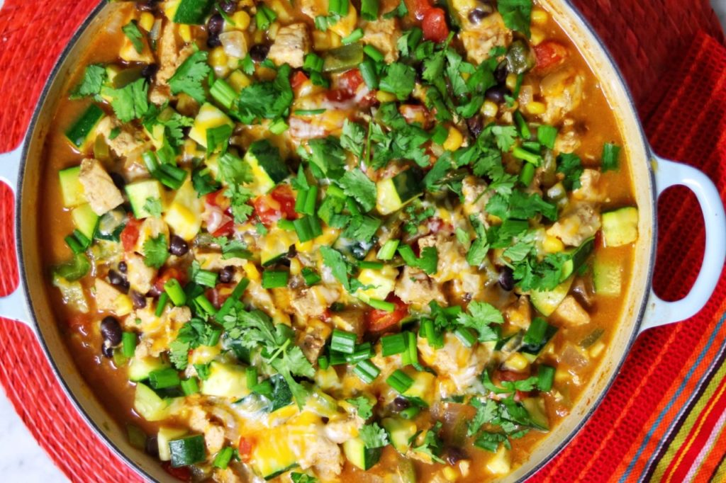 What to do with lots of zucchini: One-Pan Tex Mex Chicken and Zucchini