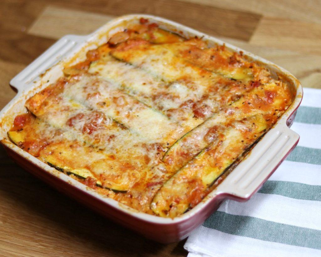 Zucchini meal ideas: Zucchini Lasagna