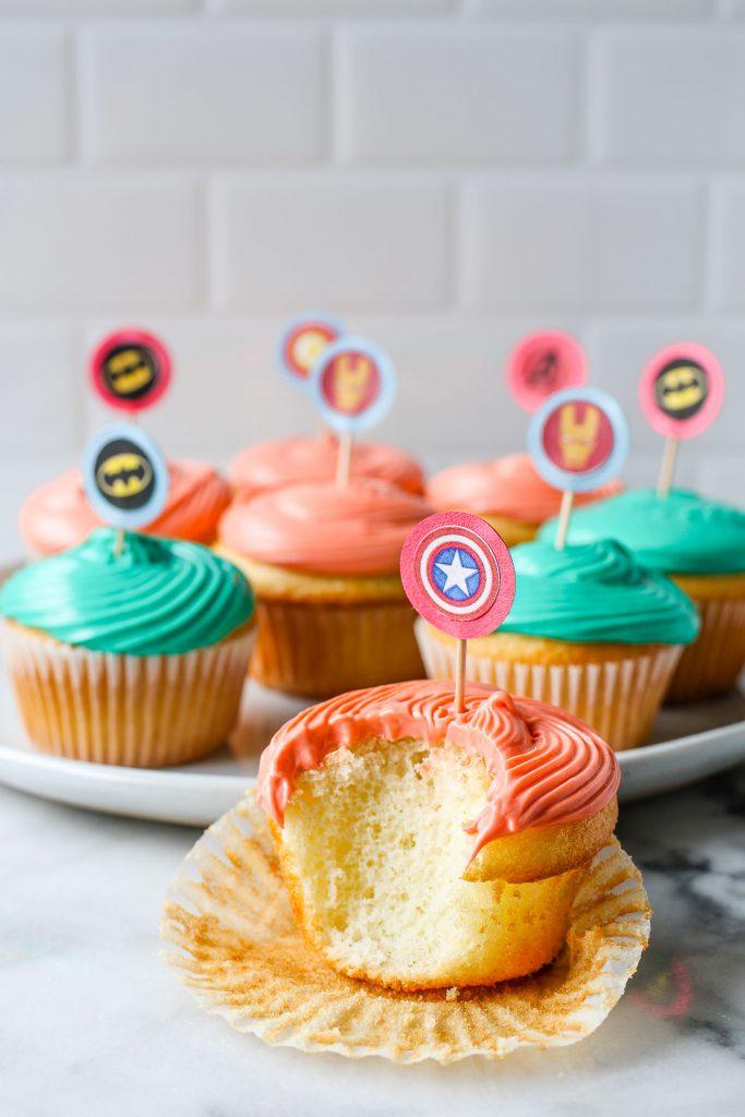 homemade cupcake toppers tutorial