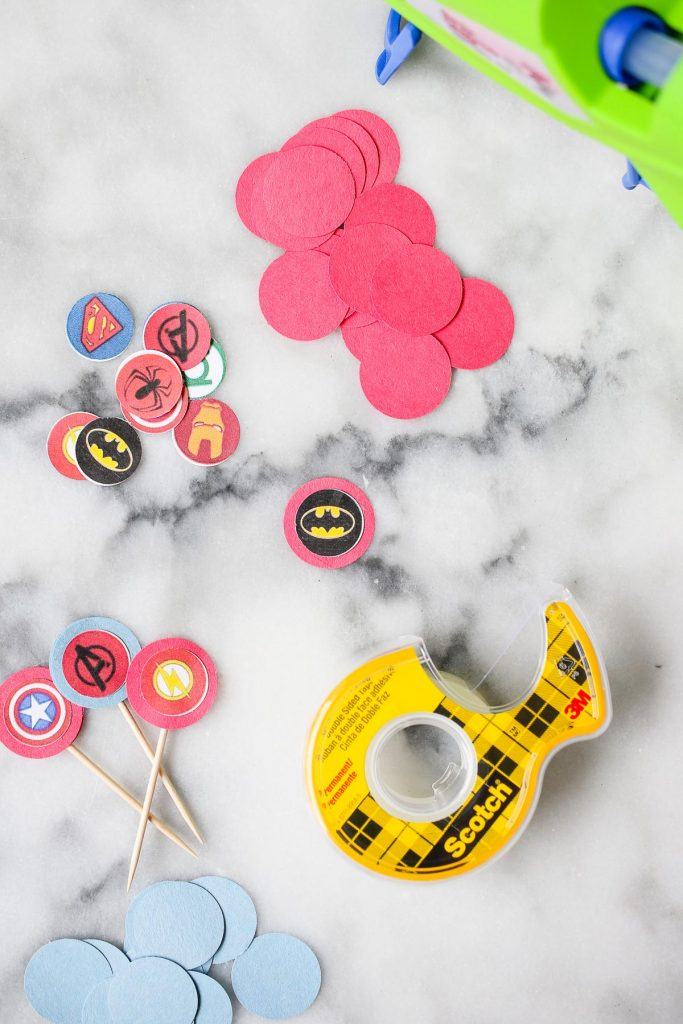 DIY cupcake toppers instructions