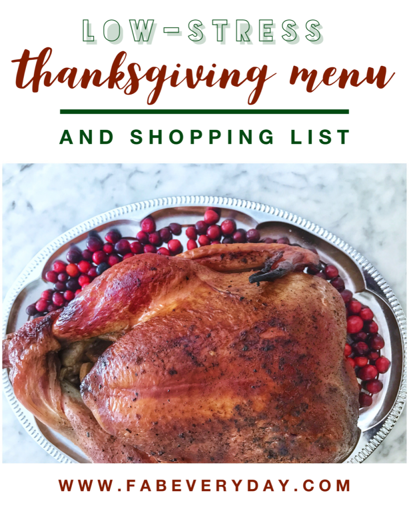 Low-Stress Thanksgiving Menu and Shopping List