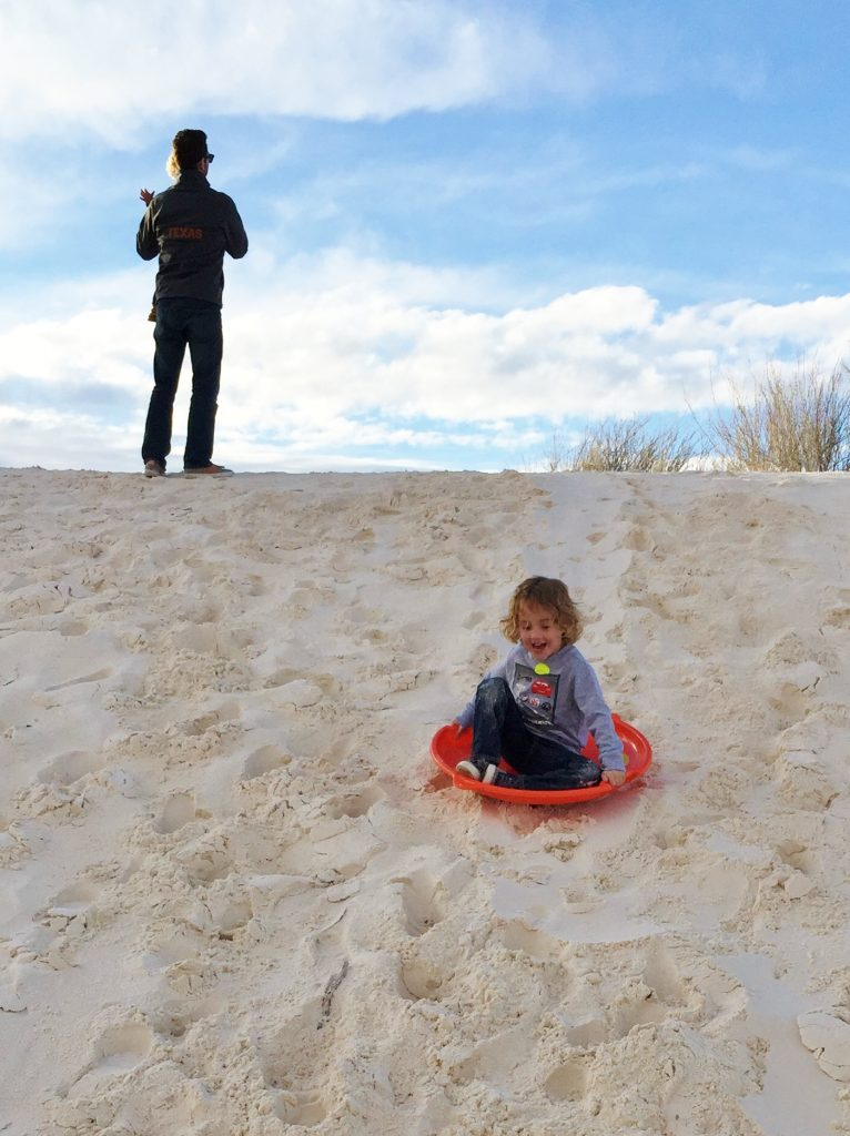 Texas to California road trip with kids: White Sands National Monument