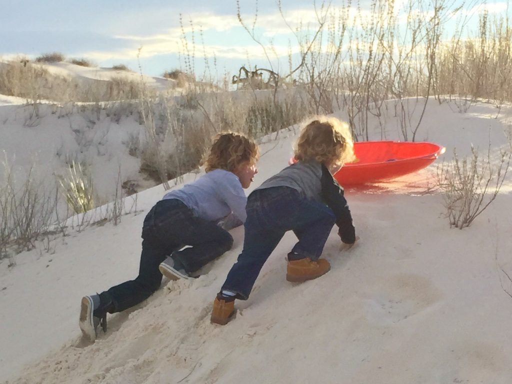 Things to do with kids on a Texas to California road trip: White Sands National Monument