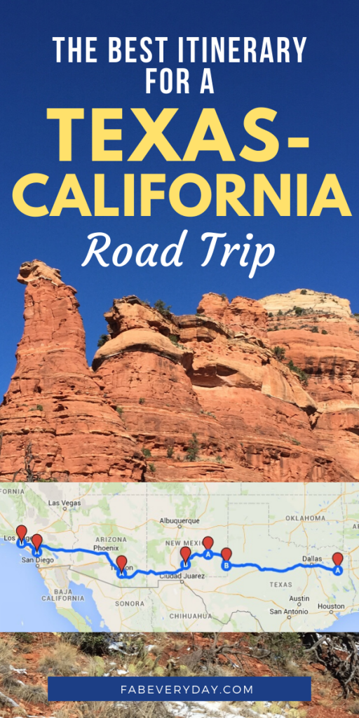 Road trip from Texas to California