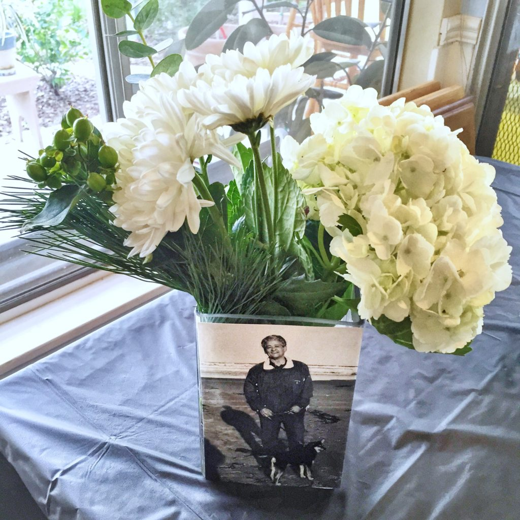 70th birthday party ideas: Photo centerpiece