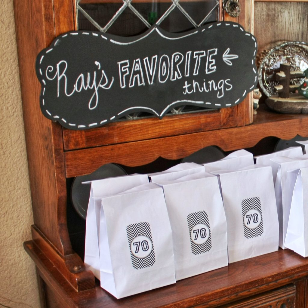 70th birthday party favors idea