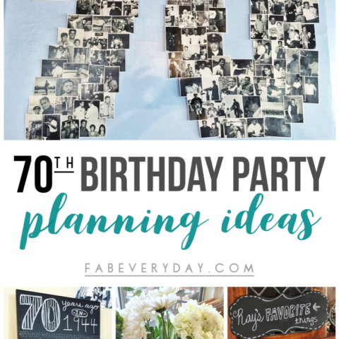 70th birthday party ideas