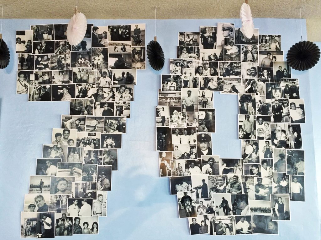 Decor ideas for 70th birthday party: 70 photo collage
