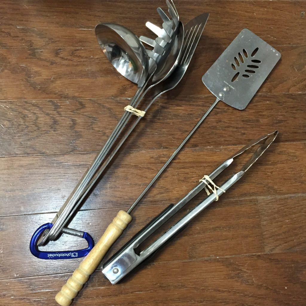 organizing camping equipment