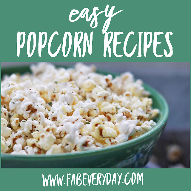 Easy, delicious popcorn seasoning recipes for a home movie night or healthy snack idea