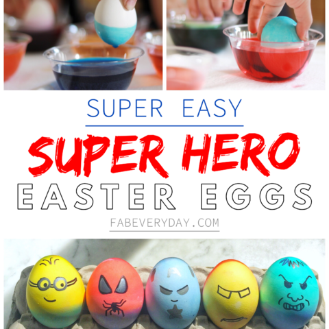 Super Easy Superhero Easter Eggs (easy Easter idea for toddlers)