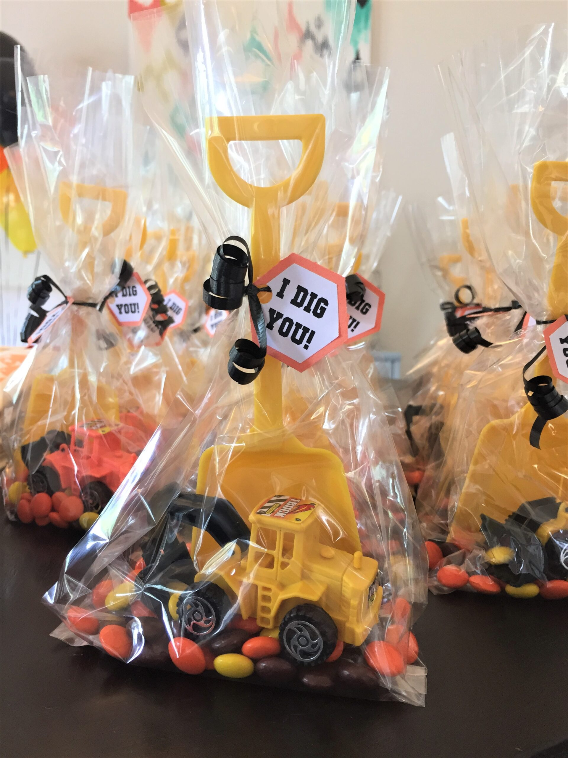 Party Favor Bag Dump Truck Candy Bags Construction Party Favors Cookie Bags Goody Bags
