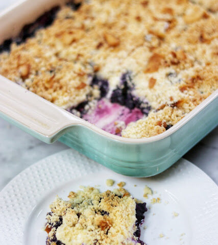 keto blueberry cream cheese crumble low carb dessert recipe