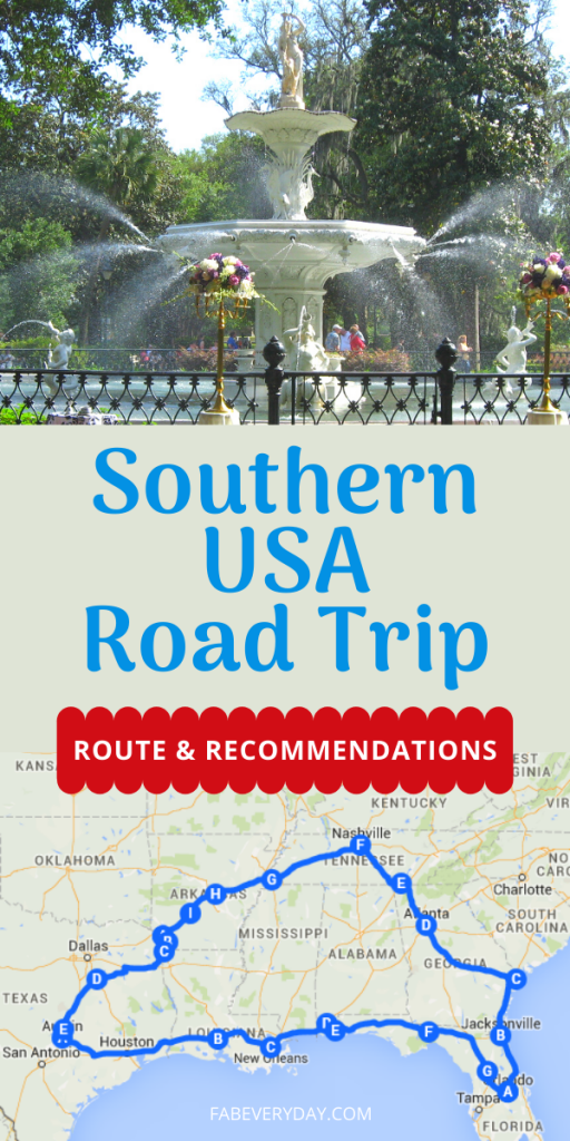 Southern USA Road Trip Route and Recommendations