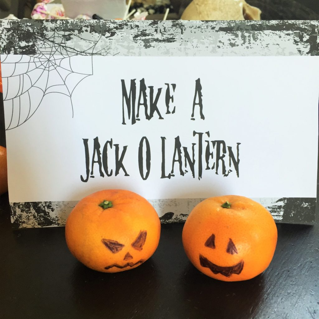kid friendly halloween party ideas - make a jack-o-lantern orange