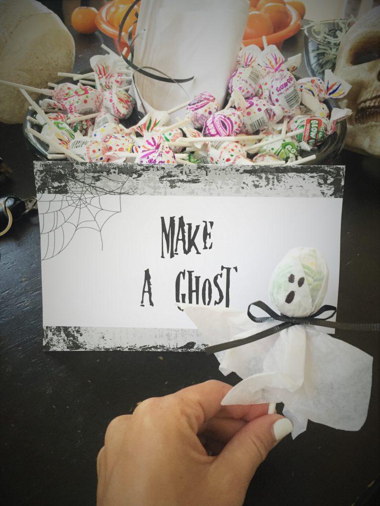 kids halloween birthday - lollipop ghosts