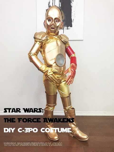 DIY Star Wars: The Force Awakens Costume - Red-Arm C-3PO