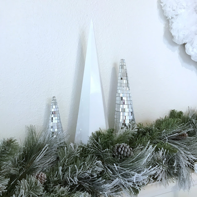 Modern white and silver Christmas decor