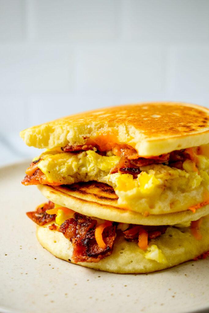 Grab-and-Go Breakfast Pancake Sandwich recipe