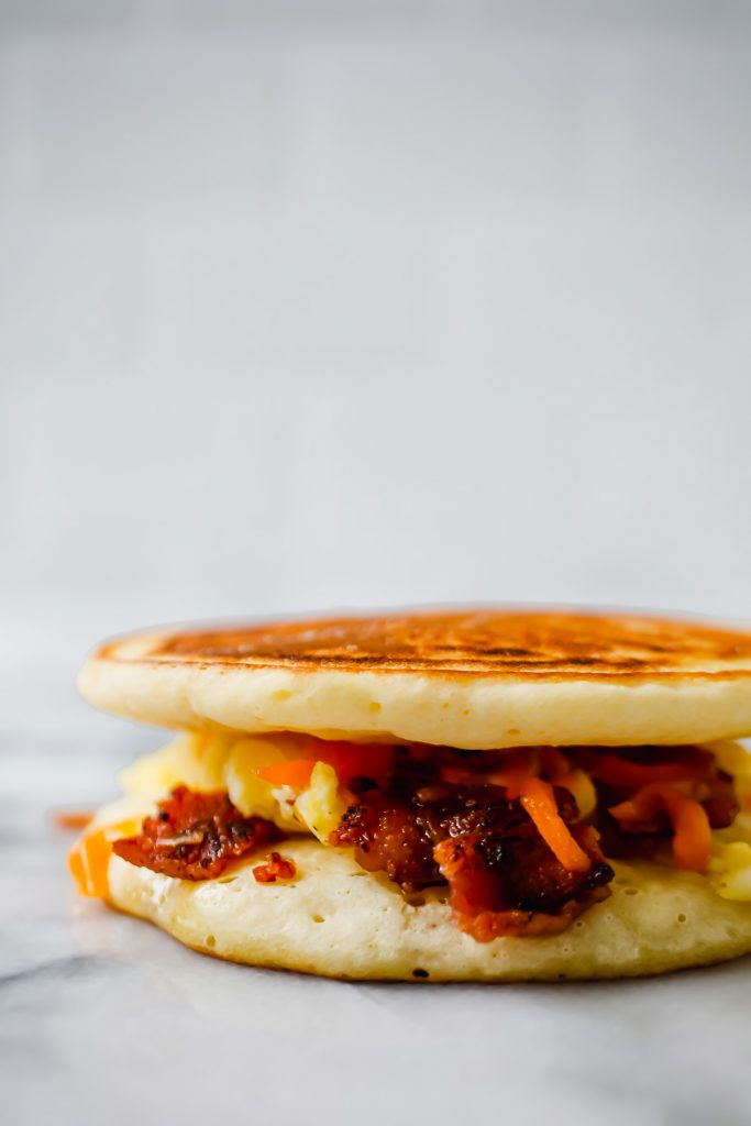 grab and go pancake breakfast sandwich