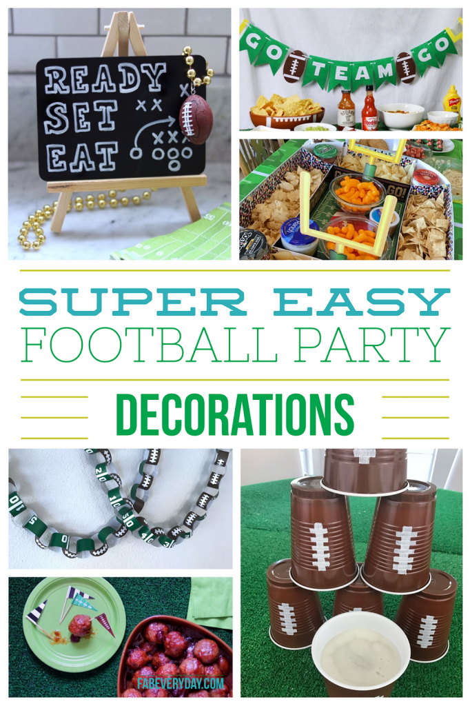 Super easy football party decorations - Just in time for the big game