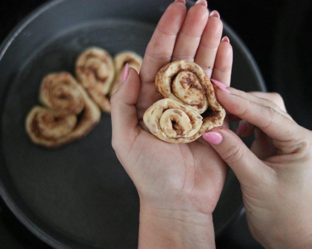 How to make Pillsbury heart shaped cinnamon rolls