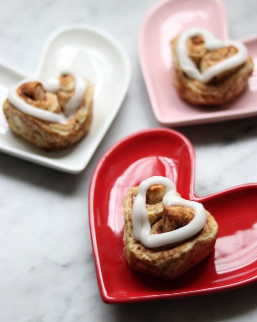 canned cinnamon roll hacks: pillsbury heart shaped cinnamon rolls