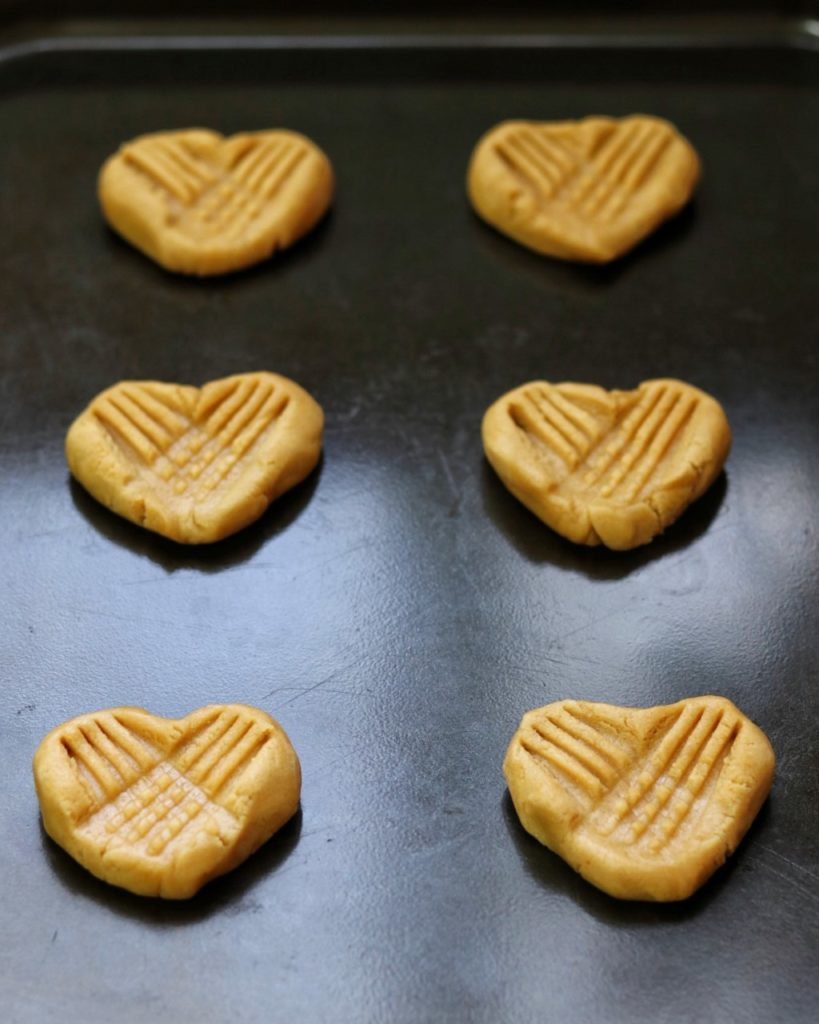 heart peanut butter cookies