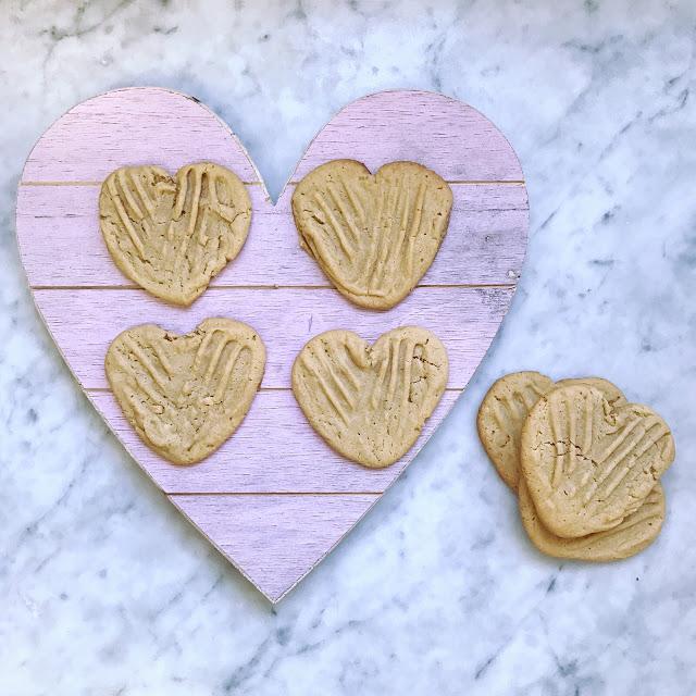 heart shaped dessert recipes: heart peanut butter cookies