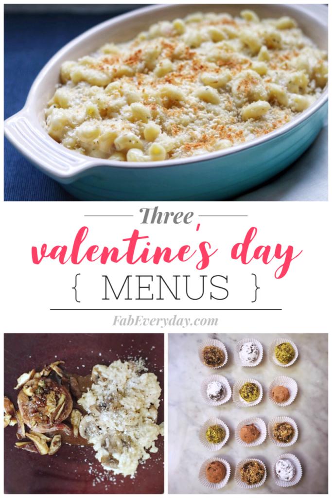 Romantic valentines dinner ideas: Three Menu Ideas for a Romantic Valentine's Dinner at Home