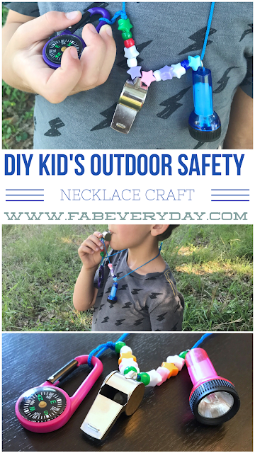 Diy Kid S Camping And Outdoor Safety Necklace Craft Fab