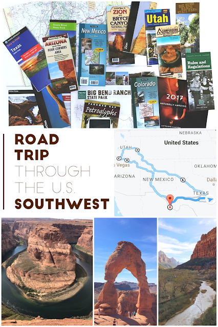 Southwest Road Trip Itinerary (including national parks)