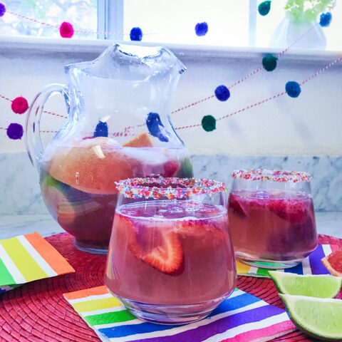 Sparkling Rosé Sangria recipe - sangria made with rose wine