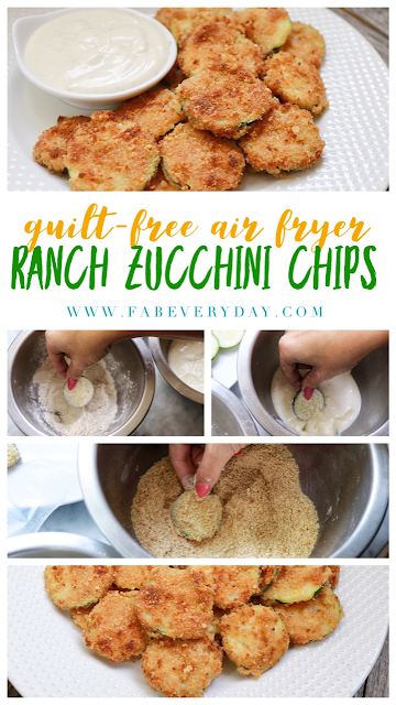 Guilt Free Air Fryer Ranch Zucchini Chips Recipe Fab