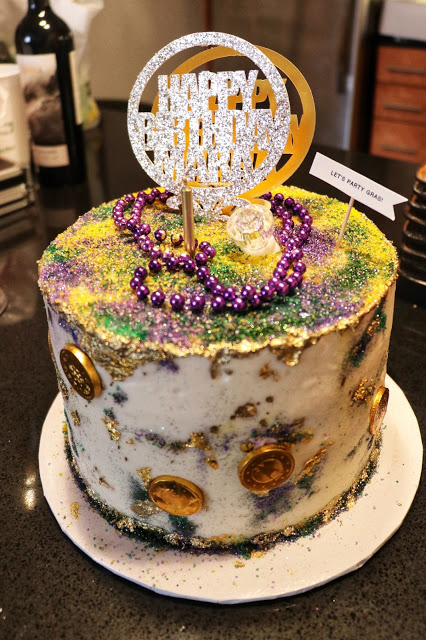 New Orleans birthday party cake