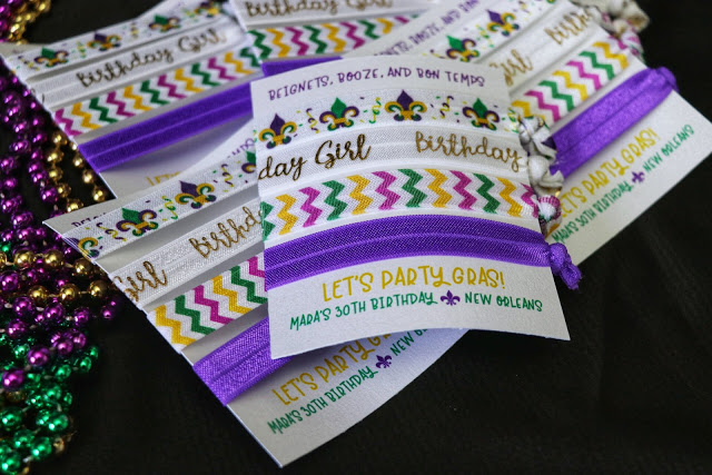 New Orleans birthday party favors