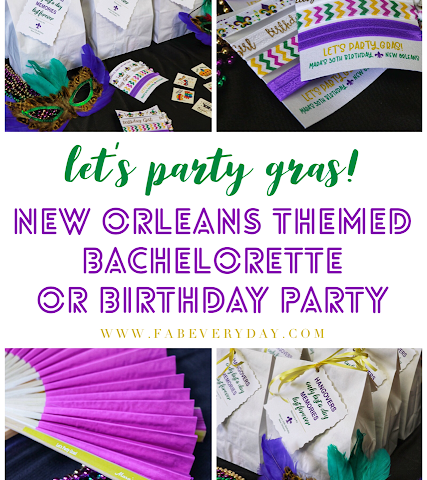 Lets Party Gras New Orleans Themed Bachelorette Or Birthday Ideas