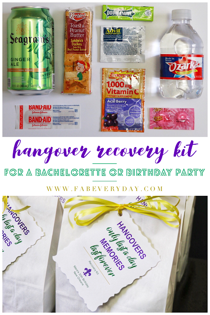 New Orleans bachelorette party hangover recovery kit