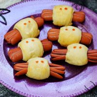 Spooky Spider Hot Dogs