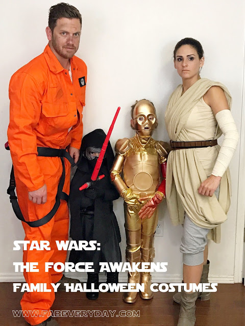 Family Star Wars: The Force Awakens Costumes for Halloween